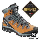 【SALOMON 法國】男 QUEST 4D 3 GTX高筒登山鞋『棕銅/暴綠/珍珠藍』406583 多功能鞋.健行鞋.登山鞋