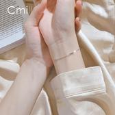 手鍊 手鍊銀簡約創意個性學生森繫冷淡風飾品韓版時尚幸運手環女