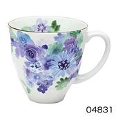 【日本製】花工房系列 美濃燒馬克杯 藍色(一組:3個) SD-6582 - 日本製 美濃燒