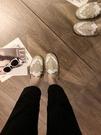 半拖鞋包頭半拖鞋女奶奶平底夏新款百搭韓版無後跟懶人涼拖外穿穆勒 【全館免運】
