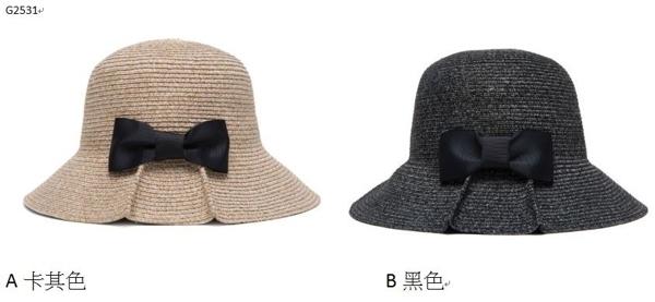 Qmishop 漁夫帽 蝴蝶結草帽【G2531】