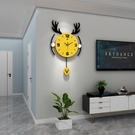 鐘表掛鐘客廳創意時尚裝飾家用石英鐘墻上靜音時鐘免打孔簡約掛表