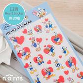 【日貨Heart sticker-唐老鴨】Norns 迪士尼 donald 拍立得 邊框貼 裝飾貼紙