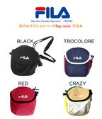 KUMO SHOES-現貨FILA MINI SHOULDER BAG 小包 吐司包 肩背包 側背 黑 深藍 卡其 紅 四色 日本限定
