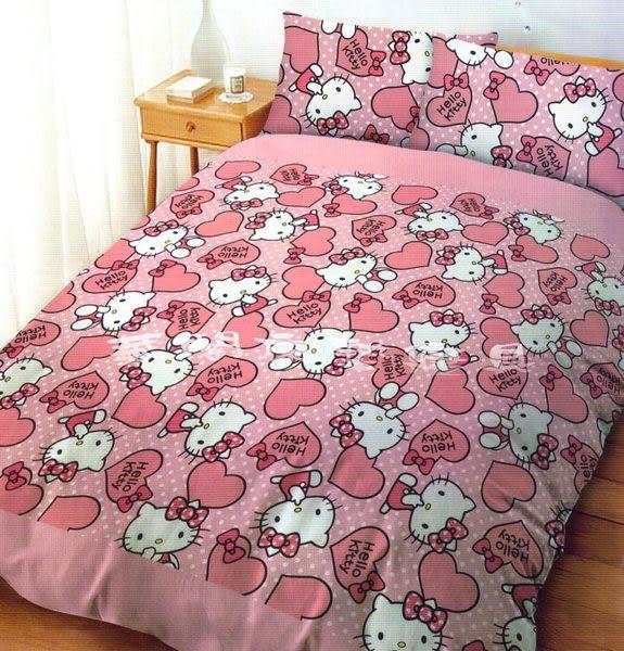 *睡美人寢具工坊*《我是HELLO KITTY》單人床包組【床包+枕套*1】台灣三麗鷗授權授權  MIT