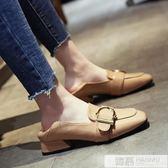 女鞋子秋季新款韓版百搭小皮鞋ins單鞋英倫風低跟學生 韓慕精品