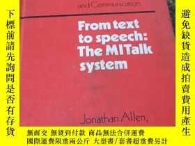 二手書博民逛書店from罕見text to speech:the mitalk