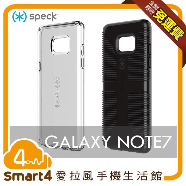 【愛拉風 X 手機殼】 Speck CandyShell Clear Samsung Note7  透明/黑 美軍軍規 絕對防摔保護殼