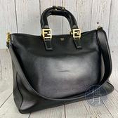 BRAND楓月 FENDI芬迪 8BH368 黑色 皮革 經典 大款 手提包 肩背包 側背包