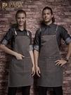 圍裙家用廚房男女韓版時尚工作定制logo咖啡烘焙店服務員帆布圍裙