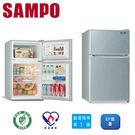 送安裝【SAMPO聲寶】100L雙門小冰...