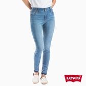 Levis 女款 721高腰緊身窄管 / 亞洲版型 / 彈性牛仔褲 / 褲管不收邊 / 超彈力布料