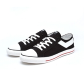 PONY男款 黑色基本帆布鞋 -NO.91M1SH02BK