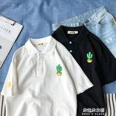 港風polo衫女可愛短袖韓版百搭夏bf寬鬆t恤學生情侶上衣  朵拉朵衣櫥
