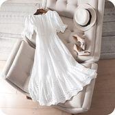 洋裝-一字領優雅氣質鏤空刺繡花邊連身裙73sz23【時尚巴黎】