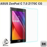 【Ezstick】ASUS ZenPad C 7.0 Z170 平板專用 鏡面鋼化玻璃膜 靜電吸附 184x102mm