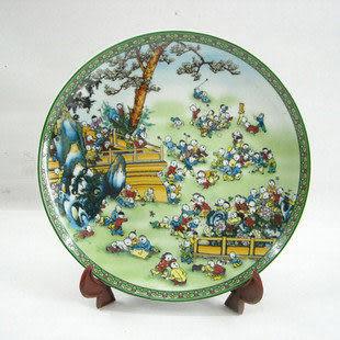 家居裝飾首選,景德鎮陶瓷盤 百子圖