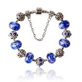 手鍊 串珠-琉璃飾品清新藍色生日情人節禮物女配件73bm117【時尚巴黎】