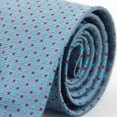 【Alpaca】灰底藍黑相間圓點領帶