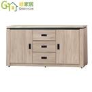 【綠家居】瓦魯 現代5.1尺仿石面紋餐櫃/收納櫃