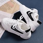 帆布鞋 2021夏季新款爆款皮面小白鞋女帆布潮鞋韓版百搭學生白鞋板鞋布鞋【快速出貨八折下殺】