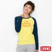 CHUMS 日本 女 L/S 吸濕快排 運動長袖T恤 TransDRY 萊姆綠 CH111174M014