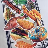 25張個性食物手帳貼紙筆記本電腦行李箱貼畫旅行箱貼紙畫防水潮牌