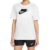 Nike AS W NSW Essntl Tee Boy Futura 女 白 休閒 短袖 DB9828-100