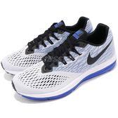 Nike 慢跑鞋 Zoom Winflo 4 白 藍 輕量透氣 運動鞋 氣墊 男鞋【PUMP306】 898466-010