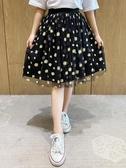 女童半身裙2020夏季新款韓版洋氣兒童半裙夏天12歲女孩夏裝網紗裙 小天使