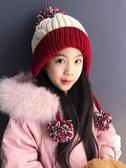 韓版潮款秋天冬季兒童毛線帽子男女童加絨保暖針織小孩寶寶套頭帽 暖心生活館