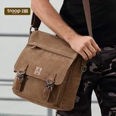 【TROOP】傳統簡約HERITAGE單肩包/TRP0421BN(棕色)