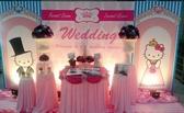 一定要幸福哦~~ Hello Kitty婚禮佈置,包套專案20000元會場佈置,浪漫型婚禮氣球佈置