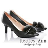 ★零碼出清★Keeley Ann焦點女伶~氣質加分兔毛全真皮高跟鞋(灰色) -Ann系列