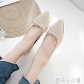 尖頭淺口單鞋女夏款洋氣小高跟百搭瓢鞋網紅秋鞋中跟粗跟潮鞋 錢夫人小鋪