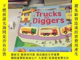 二手書博民逛書店英文原版:Trucks罕見and Diggers (翻翻書)Y1
