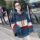 熱賣羊羔毛上衣 羊羔毛衛衣女2021秋冬新款韓版寬鬆加絨加厚連帽外套上衣 coco