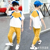 童裝男童夏裝套裝2020新款中大童男孩夏季棉麻洋氣短袖兒童韓版潮 TR756『寶貝兒童裝』