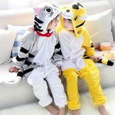 限定款睡衣 法蘭絨卡通動物冬男童女童學生演出服長袖兒童連體睡衣組