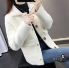 毛衣外套 加厚2020春秋新款韓版女裝水貂絨短外套寬鬆毛衣女很仙的針織開衫
