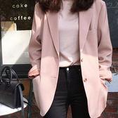 OL上班族單排釦女裝外套 知性專業雙口袋西裝外套 艾爾莎【TGK6812】