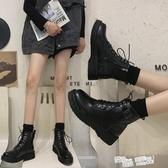 馬丁靴女英倫風2020年新款夏季薄款百搭春秋單靴瘦瘦短靴潮ins酷 聖誕鉅惠
