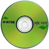 ◆限量下殺+免運費◆錸德 Ritek 空白燒錄片 環保綠葉 CD-R 700MB 52X 光碟空白片(200P裸裝)= 省錢包!!