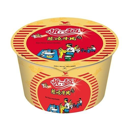 統一蔥燒牛肉風味碗麵90G*3入【愛買】