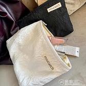 美摘泡泡玫瑰提花化妝包氣質化妝品收納整理袋旅行出差大容量便攜 電購3C