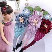 兒童髮箍超仙手工仿真花朵小女孩頭箍可愛公主裝頭飾防滑髮卡  薔薇時尚