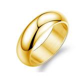 【5折超值價】情人節禮物最新歐美風格簡約光面經典款男款鈦鋼戒指