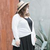 大碼女裝胖mm秋裝時髦開衫200斤胖妹妹針織小外套07159 樂芙美鞋