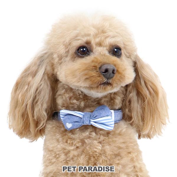 【PET PARADISE 寵物精品】Pretty Boutique 牛仔胡蝶結項圈【S】 寵物造型項圈