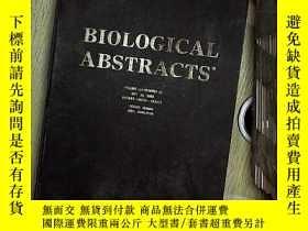 二手書博民逛書店BIOLOGICAL罕見ABSTRACTS ENTRIES138634-154133 VOLUME110 生物文摘